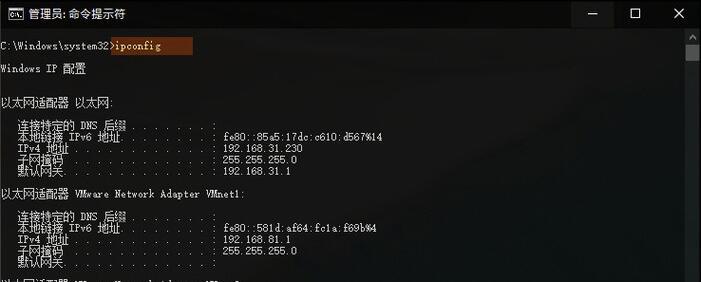 查询本机IP地址信息